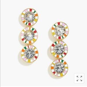 J Crew crystal drop earrings NWT